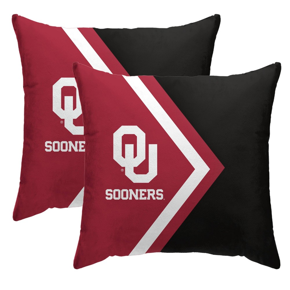 Ncaa Oklahoma Sooners Side Arrow Poly Span Throw Pillow 2pk
