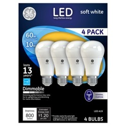 GE LED Dimmable Light bulbs 60W 4pk