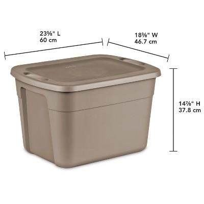 Sterilite 18 Gal Storage Tote   Desert Brown : Target