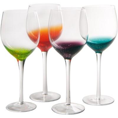 Artland Fizzy Assorted Color 20 Ounce Bar Glass, Set of 4