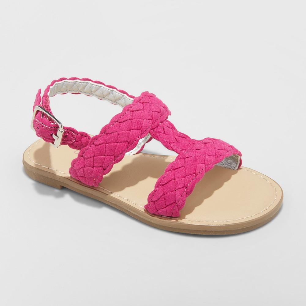 Toddler Girls' Elsie Two Piece Slide Sandals - Cat & Jack Purple 6