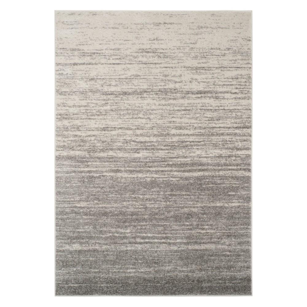 6'X9' Ombre Design Area Rug Light Gray - Safavieh, Light Gray/Gray