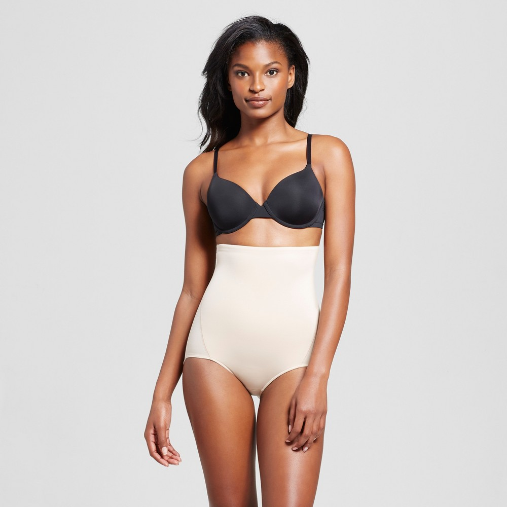SlimShaper by Miracle Brands Women's Tailored High Waist Brief - Nude XL