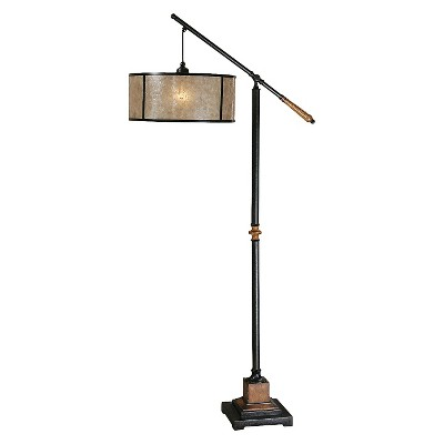 Uttermost Sitka Lantern Floor Lamp - Black