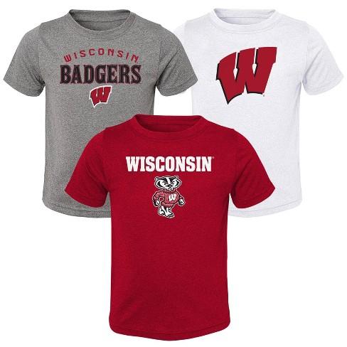 NCAA Wisconsin Badgers Toddler Boys' 3pk T-Shirt - image 1 of 4