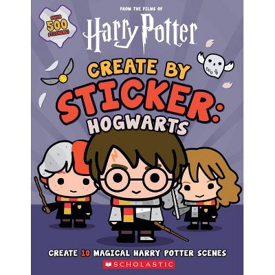 Harry Potter: Create by Sticker: Hogwarts - by Cala Spinner (Paperback)