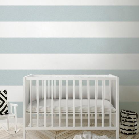 Peel & Stick Wallpaper Big Stripe Gray - Cloud Island™ - image 1 of 2