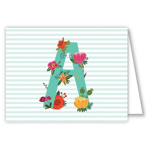 Folded Notes - Vintage Floral Monogram - image 1 of 1
