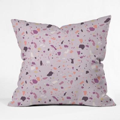 Mareike Boehmer Geometric Square Throw Pillow Purple - Deny Designs