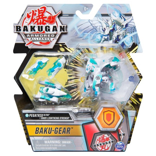 "Bakugan Ultra Pegatrix with Transforming Baku-Gear Armored Alliance Collectible Action Figure 3"" image number null"