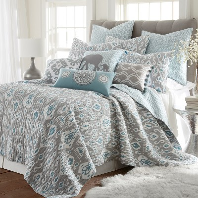 Full/Queen Shealeen Quilt Set Gray - Mudhut