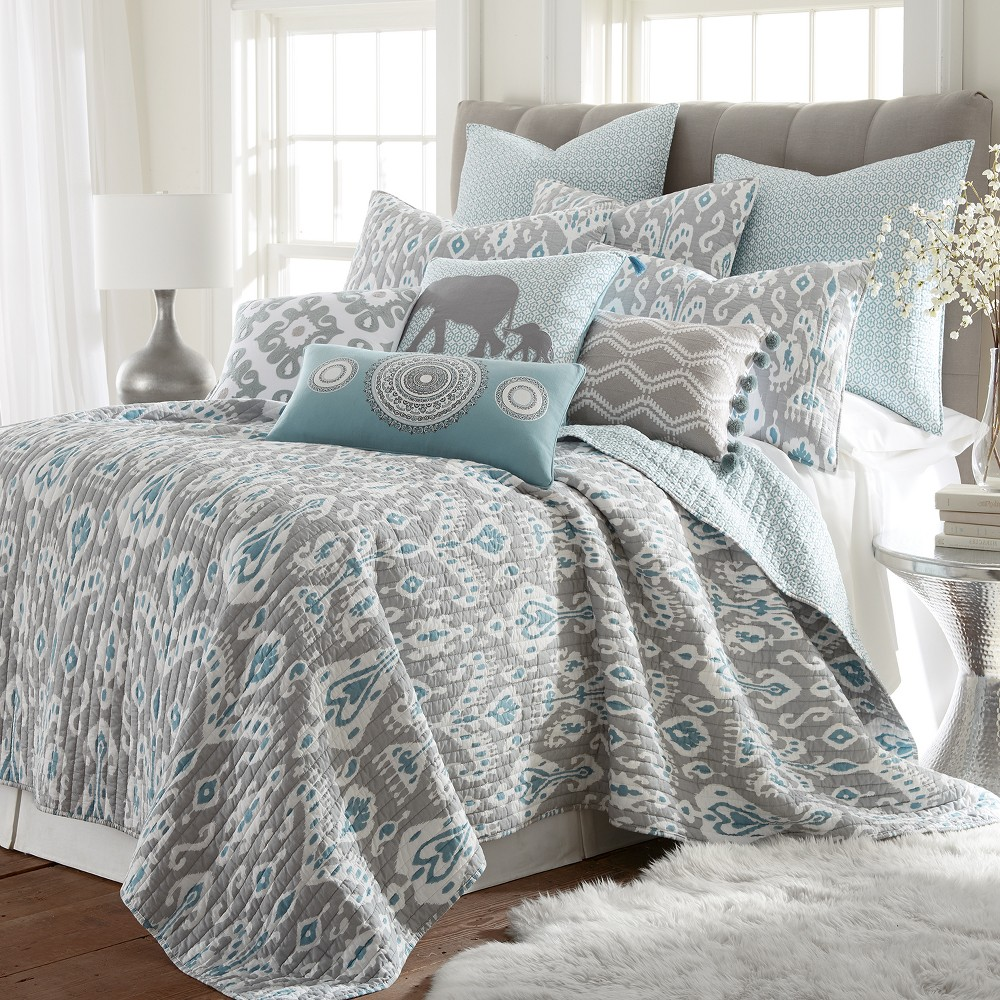 Image of Full/Queen Shealeen Quilt Set Gray - Mudhut
