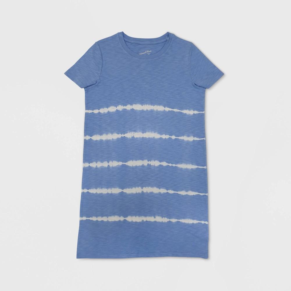 Women's Short Sleeve Tie-Dye T-Shirt Dress - Universal Thread Blue XS was $15.0 now $10.0 (33.0% off)