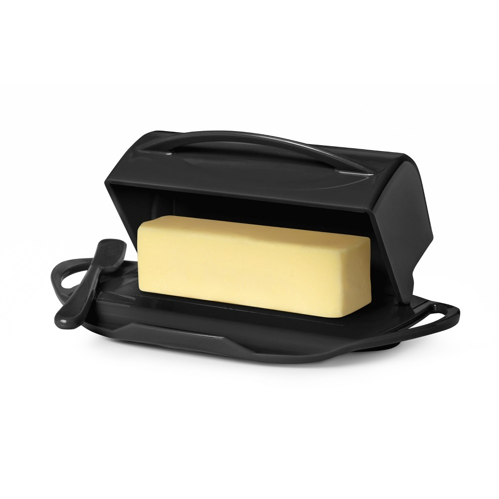 Image of 8oz Butter Dish Black - Butterie