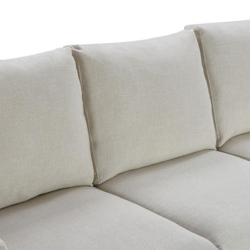 Westport Slipcover Sofa Ivory Linen - Finch