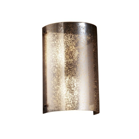 """Justice Design Group FSN-5542W-MROR Fusion 8"""" Finials 2 Light Wall Sconce - image 1 of 1"""