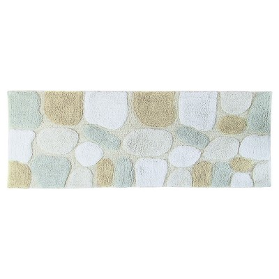 Pebbles Bath Rug Runner Neutral Rain (24 X60 )- Chesapeake Merch Inc.®