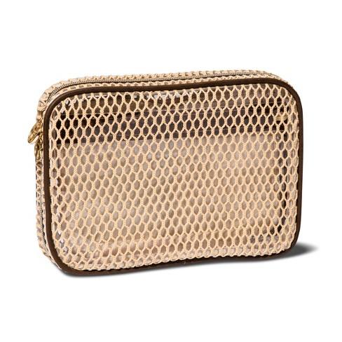 ac2624db8bc Sonia Kashuk™ Always Organized Open Weave Makeup Bag - Beige : Target