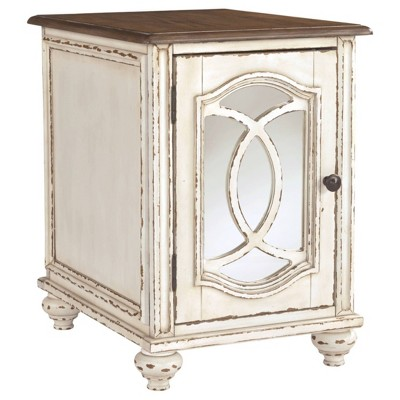 Realyn Chairside End Table White/Rustic Brown - Signature Design by Ashley