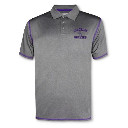 MLB Colorado Rockies Men's Your Team Gray Polo Shirt - image 1 of 1