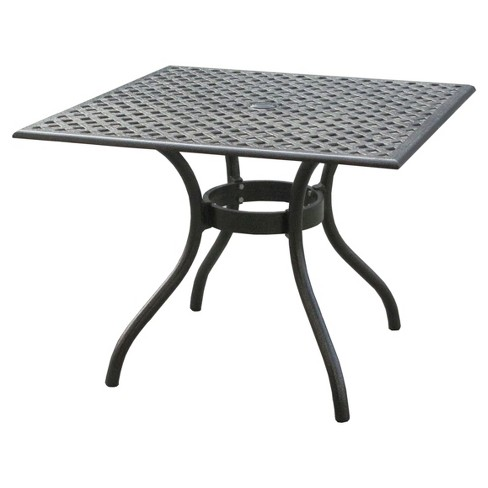 Cayman Square Cast Aluminum Table - Black Sand - Christopher Knight Home - image 1 of 4