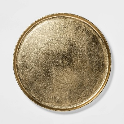 "17.6"" Round Aluminum Tray Gold - Threshold™"
