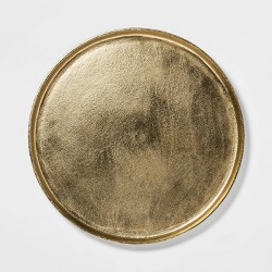 "17.6"" Brass Round Tray Gold - Threshold™"
