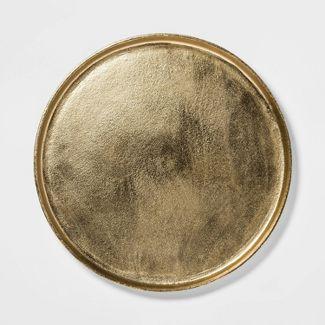 "17.6"" Round Aluminum Tray Gold - Threshold™"