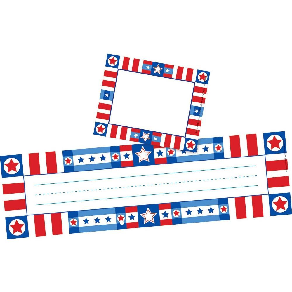 Image of Barker Creek 81pc USA Nametag and Name Plate Set