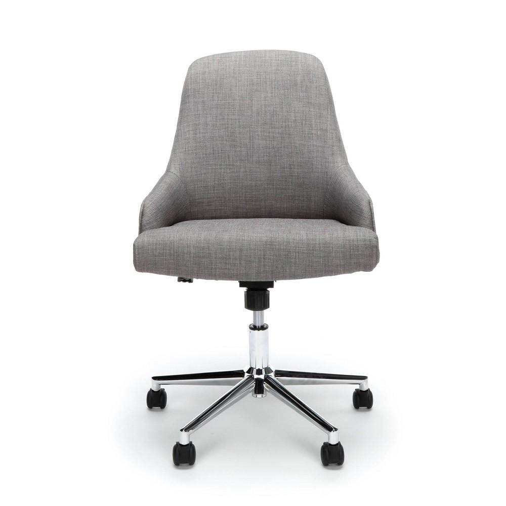Upholstered Home Desk Chair Gray - Ofm
