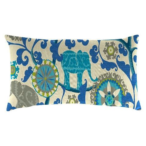 Outdoor Throw Pillow Set Jordan Manufacturing Multi-colored Bright ... 34e857cc5cdb