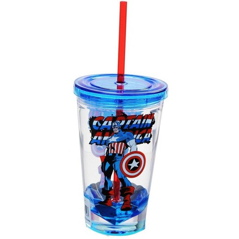 Just Funky Marvel Retro Captain America 19oz Carnival Cup - image 1 of 1