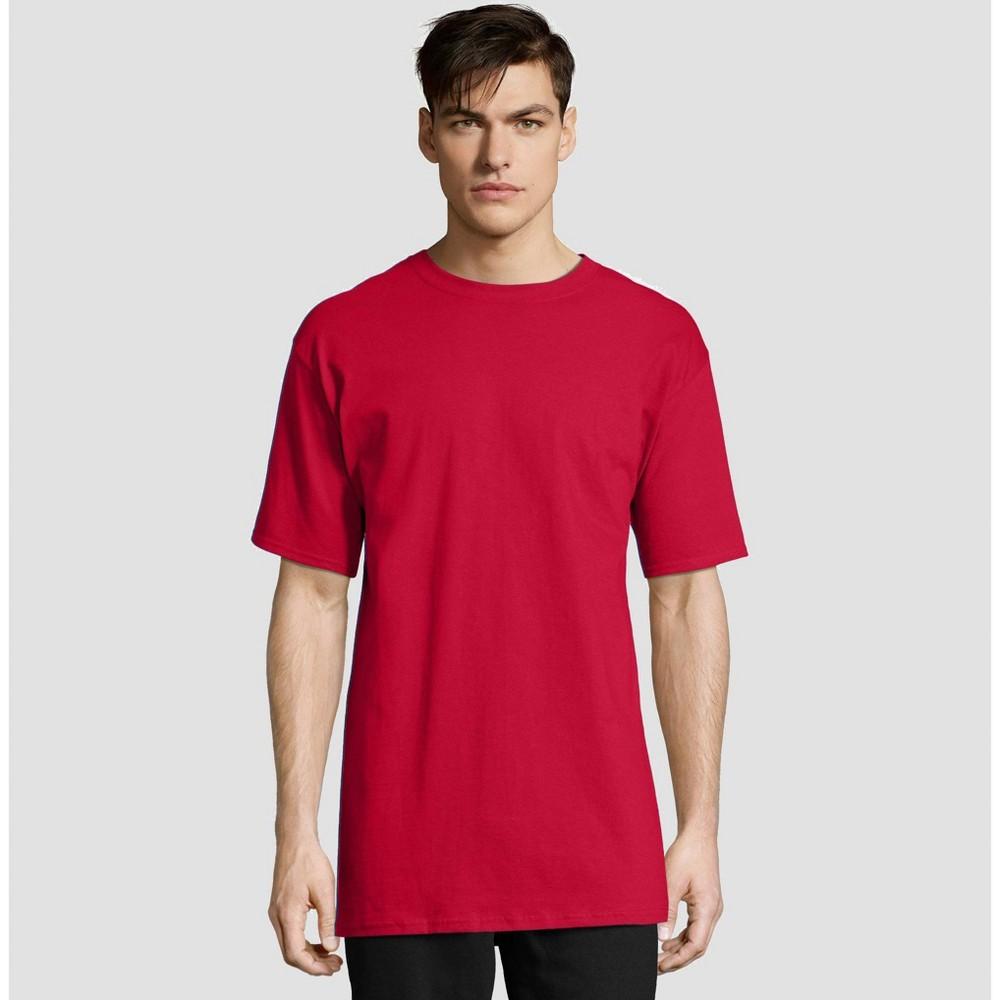 Hanes Men's Big & Tall Short Sleeve Beefy T-Shirt - Deep Red 3XLT