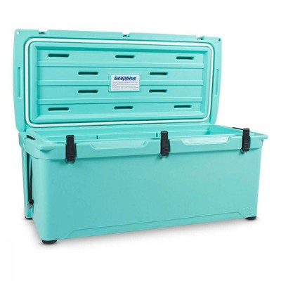 Engel 123 High Performance 108-Quart Portable Durable Rotomolded Airtight 130 Can Hard Cooler and Ice Box for Camping & Sports Events, Seafoam Green