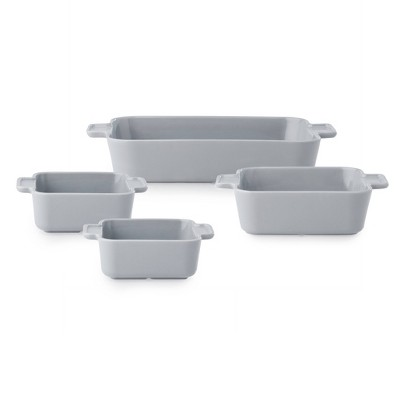CorningWare Modern 4pc Ceramic Bakeware Set - Ash