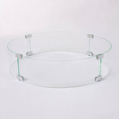 Tempered Glass Wind Guard for Round LPG Fire Pits - Fire Sense