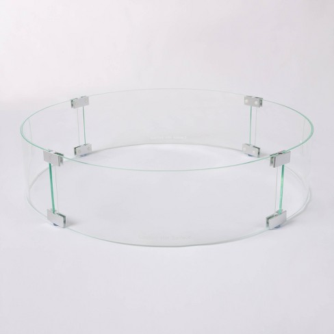 Tempered Glass Wind Guard For Round Lpg Fire Pits Fire Sense Target