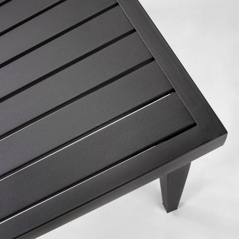+ 3 more - Fairmont Steel Rectangular Patio Dining Table - Black - Threshold
