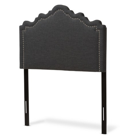 Nadeen Modern and Contemporary Fabric Headboard - Twin - Dark Gray - Baxton Studio - image 1 of 5