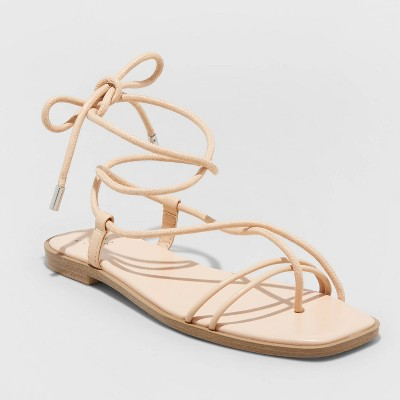 Women's Talia Lace Up Sandals - A New Day™