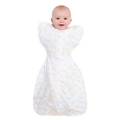 HALO Innovations SleepSack Self-Soothing Swaddle - Happy Baby Love S