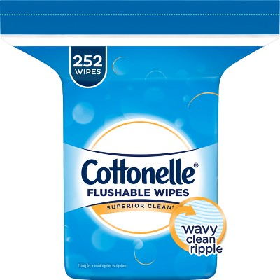 Cottonelle® Fresh Care Flushable Cleansing Cloths Refill - 252ct