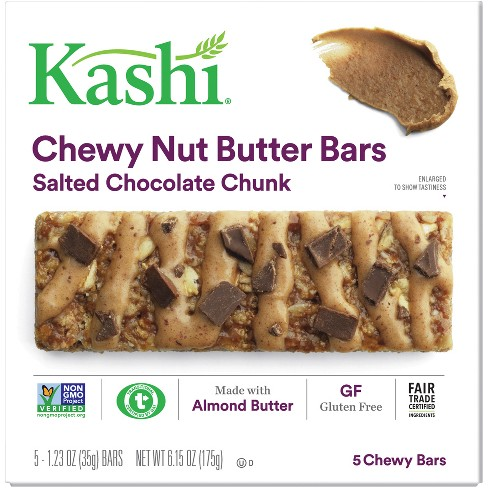 Kashi Salted Chocolate Chunk Chewy Nut Butter Bars - 5ct - image 1 of 7