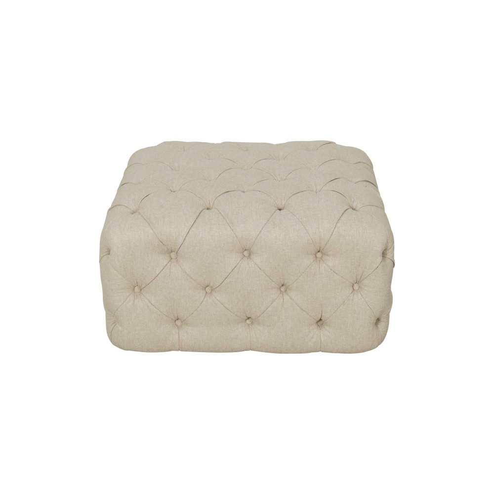 Large Square All Over Tufted Ottoman Tan - Homepop was $309.99 now $232.49 (25.0% off)
