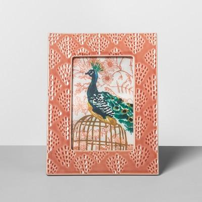 Embossed Ceramic Frame Peach 4 x6  - Opalhouse™