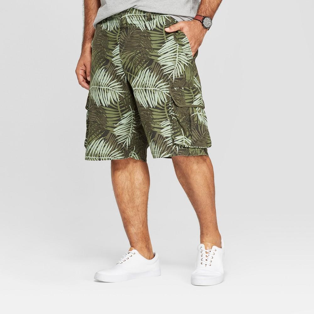 Men's Big & Tall 11 Cargo Shorts - Goodfellow & Co Green 44