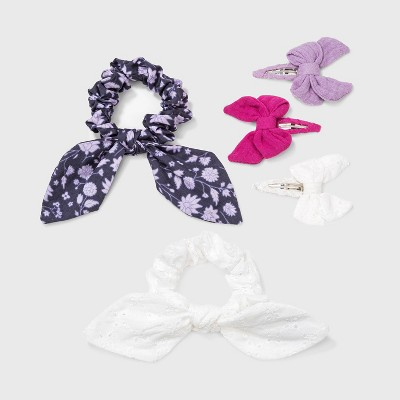 Girls' 5pk Tail Twister and Bow Hair Clip - Cat & Jack™