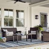 Halsted 4pc All-Weather Wicker Patio Conversation Set - Threshold™ - image 2 of 4