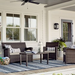 Halsted 4pc All-Weather Wicker Patio Conversation Set - Threshold™