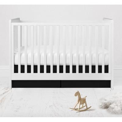 Bacati - Solid Crib/Toddler Bed Skirt - Black